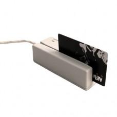 MSR213V-33, считыватель магнитных карт, 1&2&3 дорожки, USB-Virtual COM (белый)