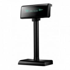 Дисплей покупателя  3220 VFP (RS232+USB) черный (на подставке)