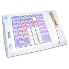 LPOS-064-M12(PC/2), программируемая клавиатура,64 клавиши с ридером магнитных карт на 2 дор.бежевая
