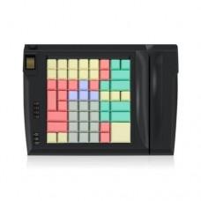 LPOS-064-M12(USB), программируемая клавиатура,64 клавиши с ридером магнитных карт на 2 дор.черная